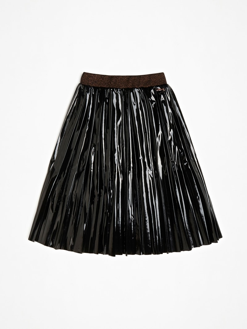 FAUX LEATHER GLITTER SKIRT image number 1