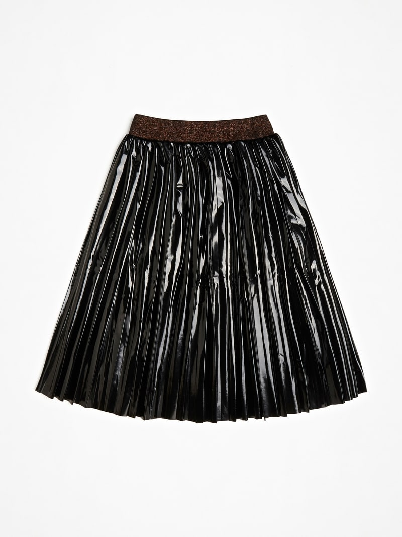 FAUX LEATHER GLITTER SKIRT image number 2