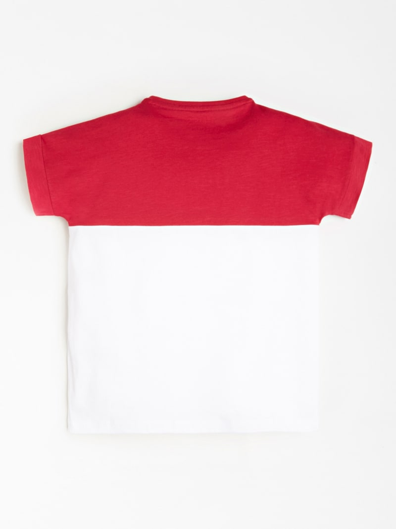 T-SHIRT COLOR BLOCK AVEC LOGO SUR LE DEVANT image number 1