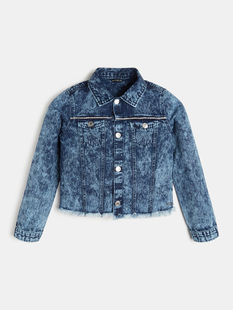 RHINESTONES FRINGES DENIM JACKET image number 0