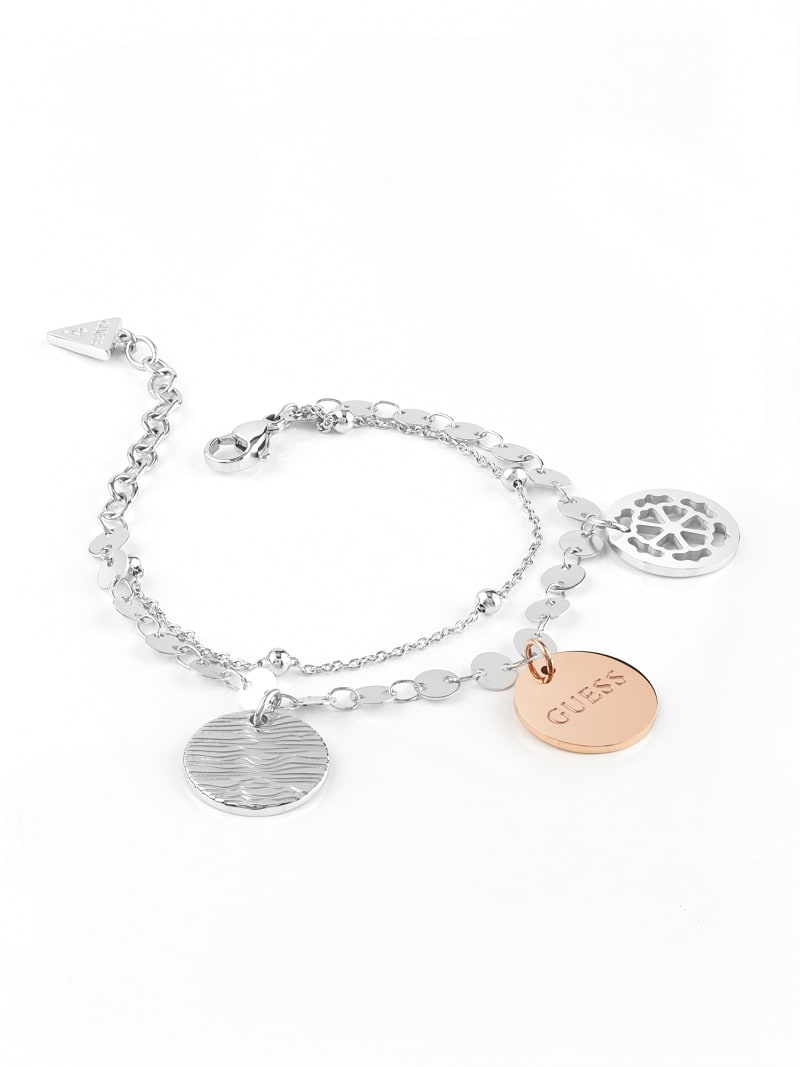 PEONY ART COIN BRACELET image number 1