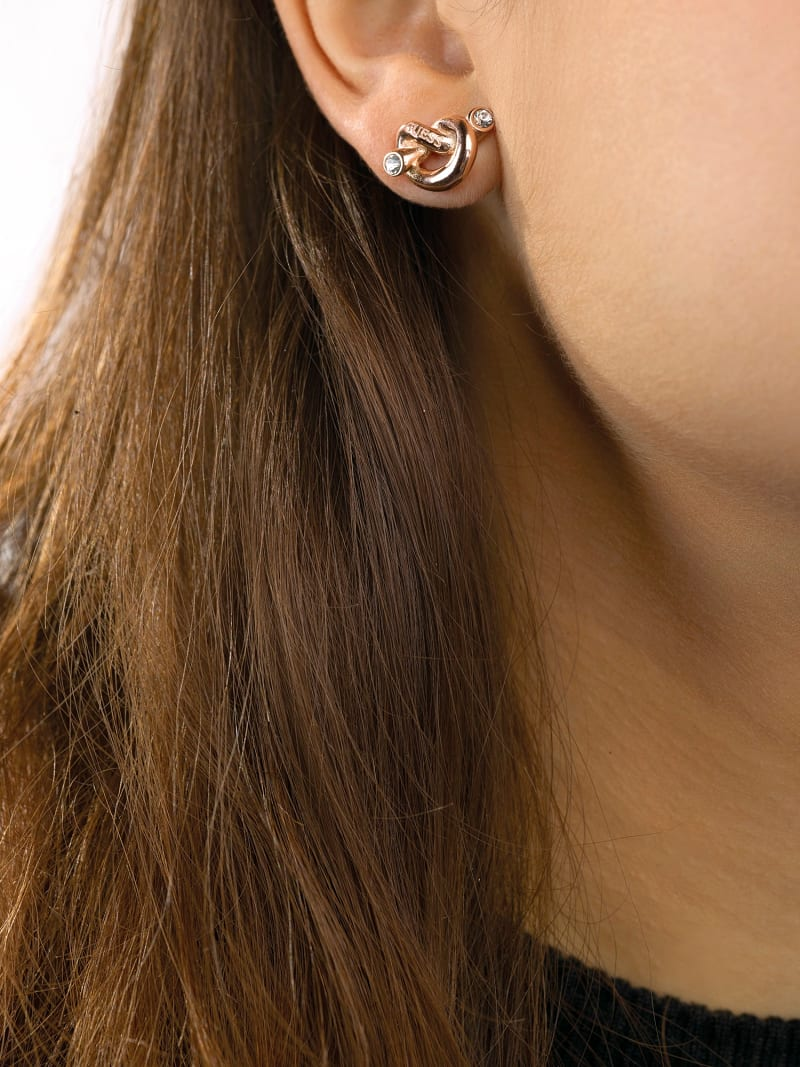 GUESS KNOT KNOT EARRINGS image number 2