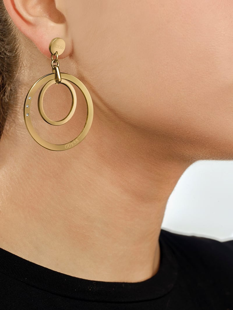 ETERNAL CIRCLES CIRCLE PENDANT EARRINGS image number 2