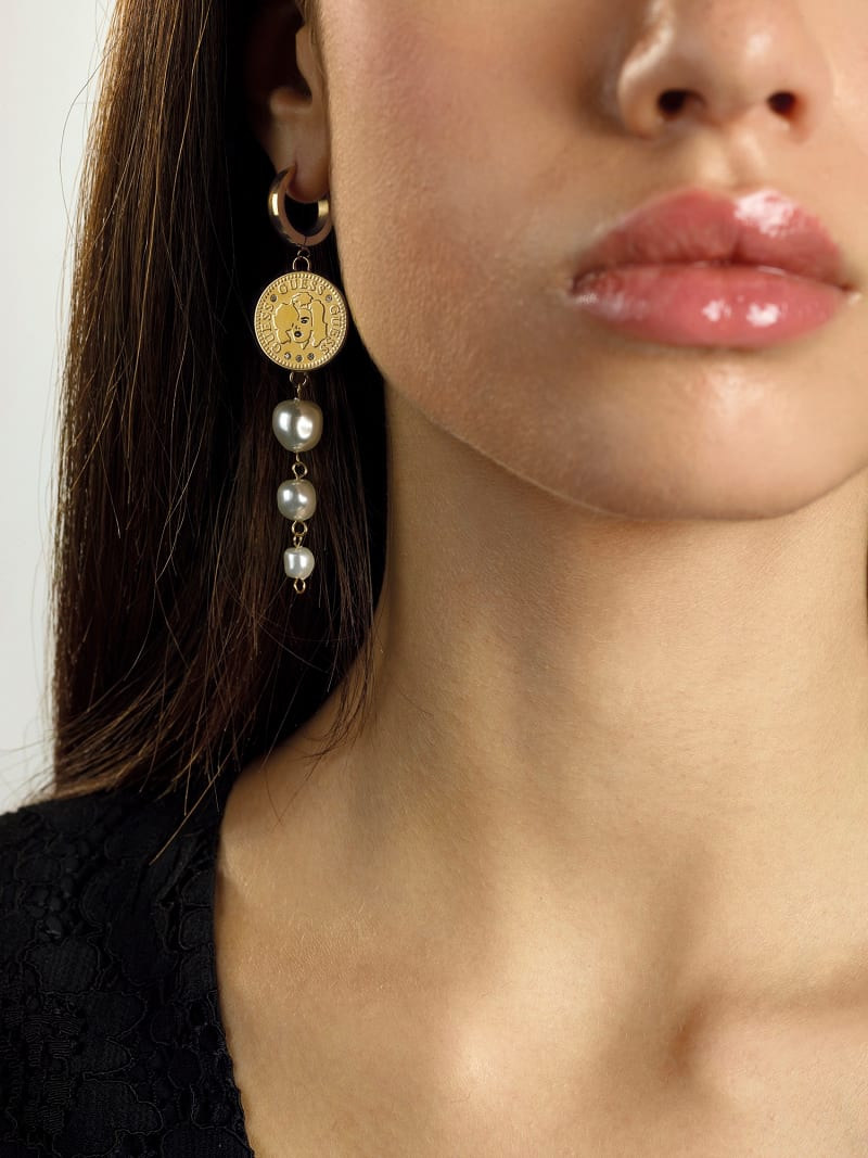 """""""GUESS COIN"""" EARRINGS image number 1"""