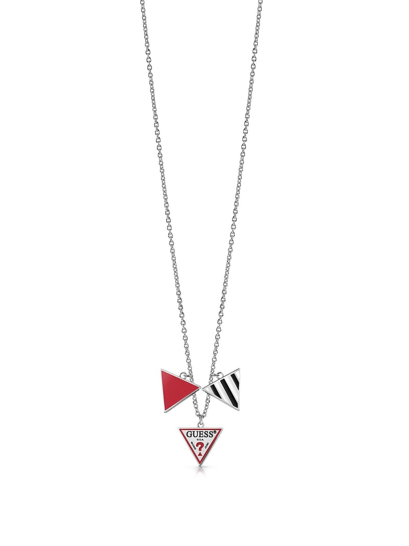 L.A. GUESSERS  3-CHARM LOGO NECKLACE image number 0