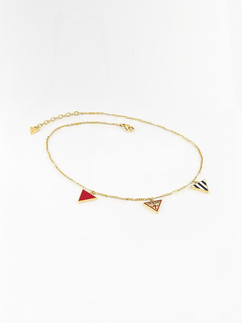 L.A. GUESSERS  3-CHARM LOGO NECKLACE image number 1