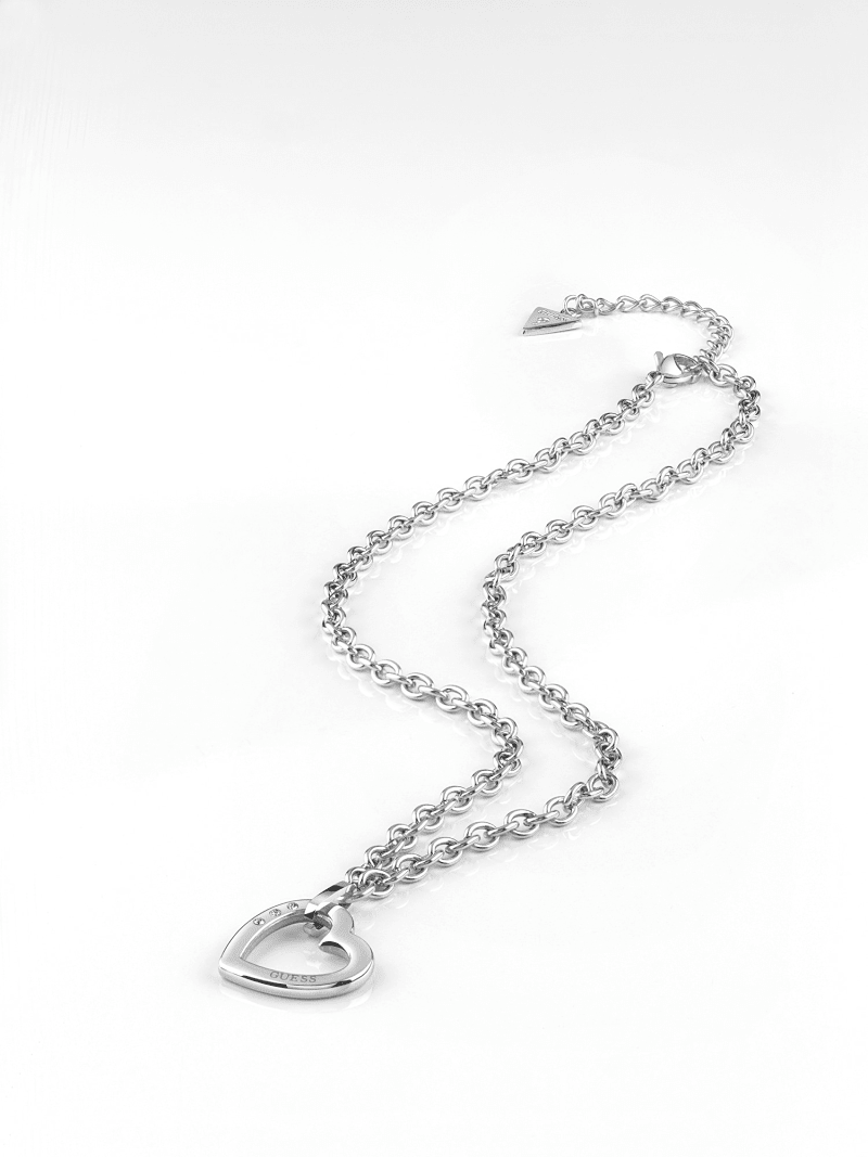 HEARTED CHAIN HEART NECKLACE image number 1