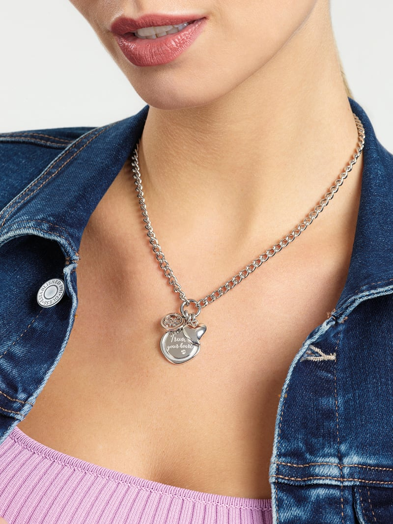 """GUESS MY FEELINGS"" NECKLACE image number 1"