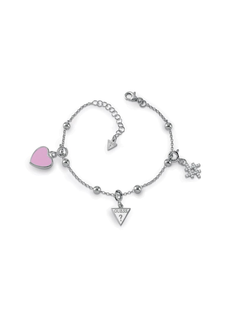 """""""GUESS YOURSELF"""" SILVER 925 BRACELET image number 0"""