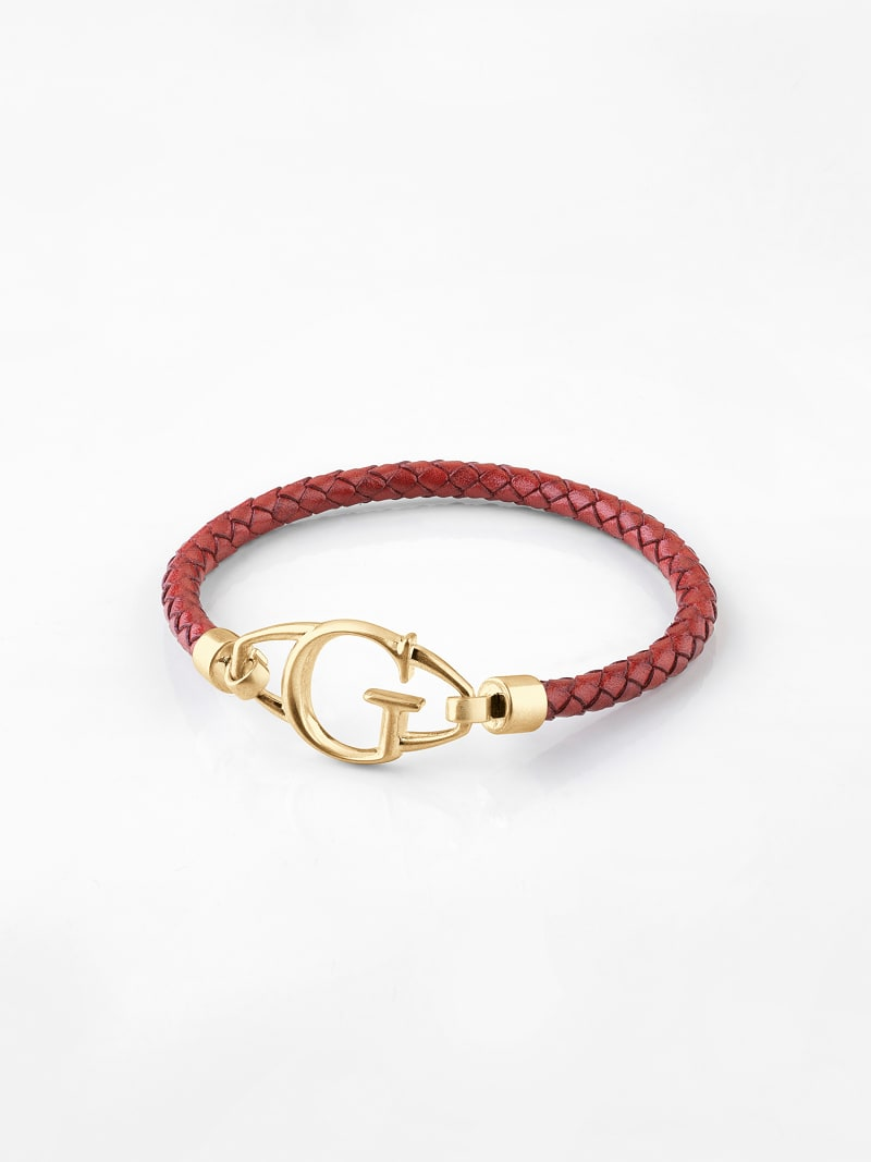 BRAIDED LEATHER BRACELET image number 1
