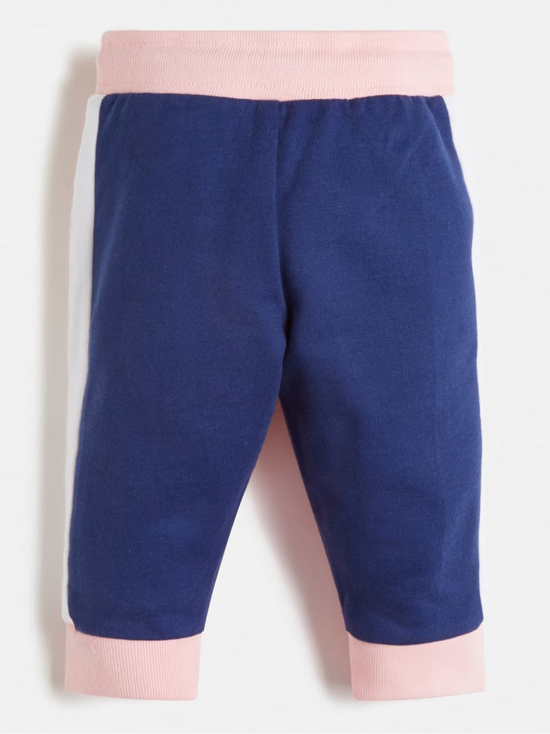 COLOR BLOCK TERRY PANTS image number 1