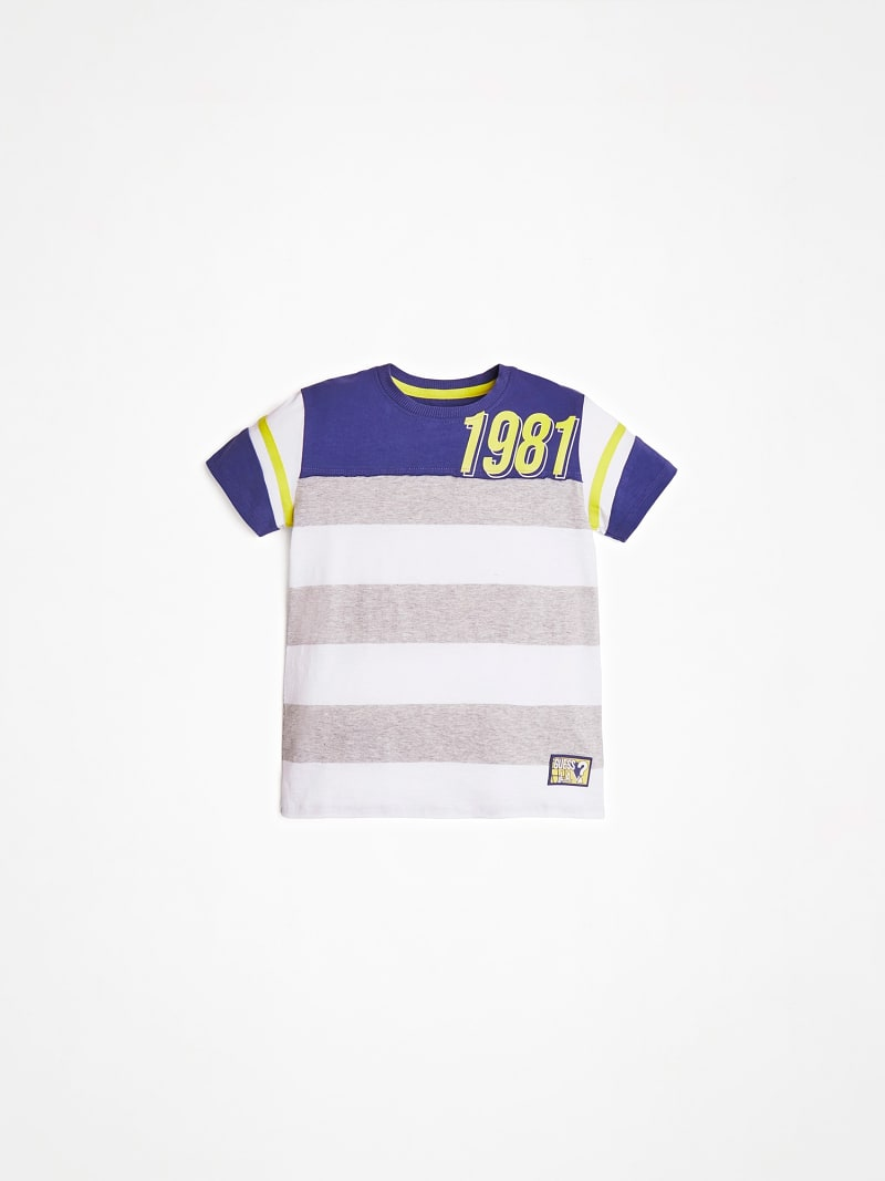 FRONT LOGO STRIPED T SHIRT image number 0