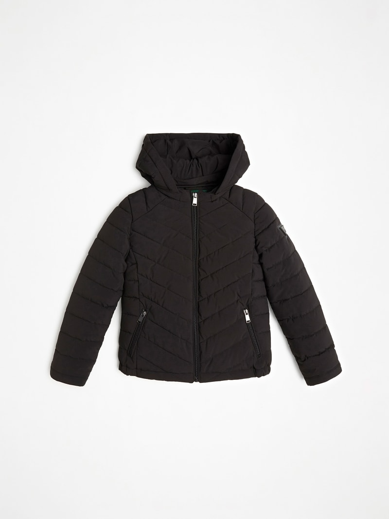 QUILTED PADDED HOOD JACKET image number 1