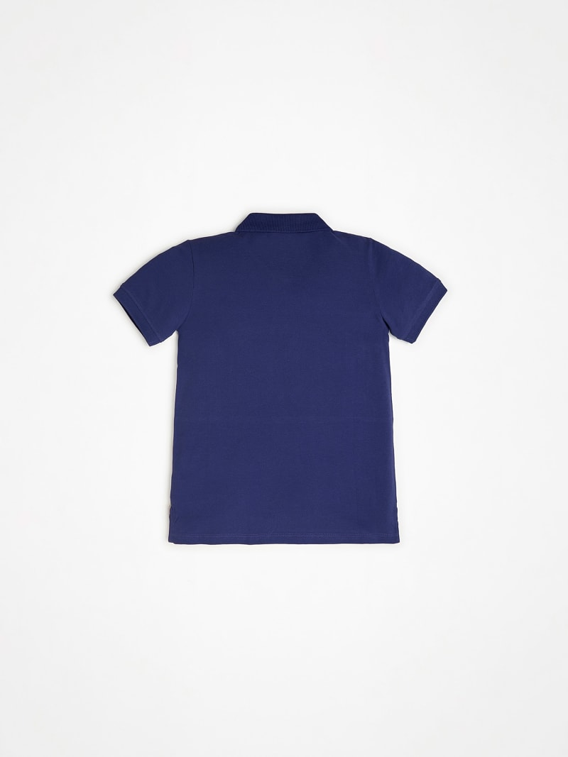 CAMISETA POLO COLOR BLOCK CON LOGO FRONTAL image number 1