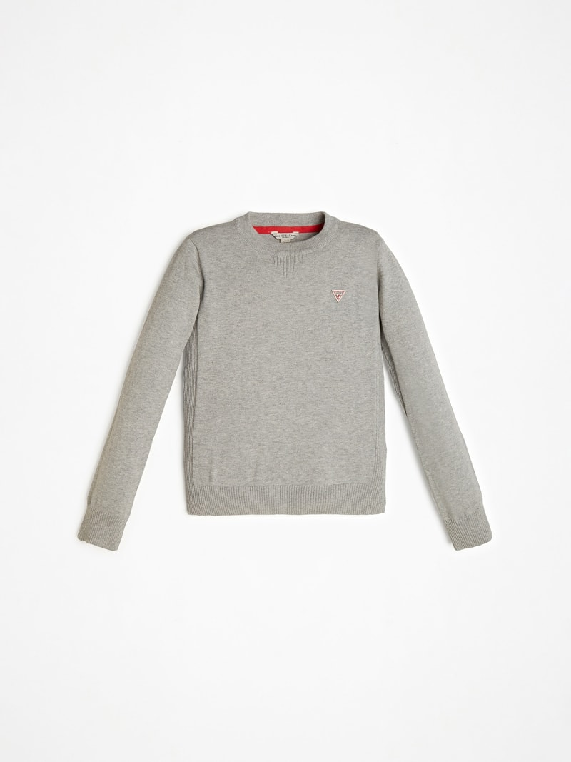 FRONT LOGO CREW NECK SWEATER image number 0