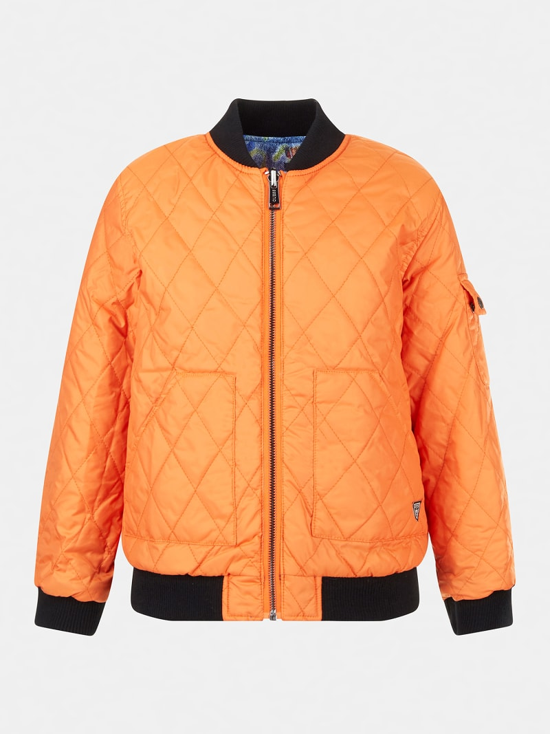 QUILTED PADDED REVERSIBLE BOMBER image number 2