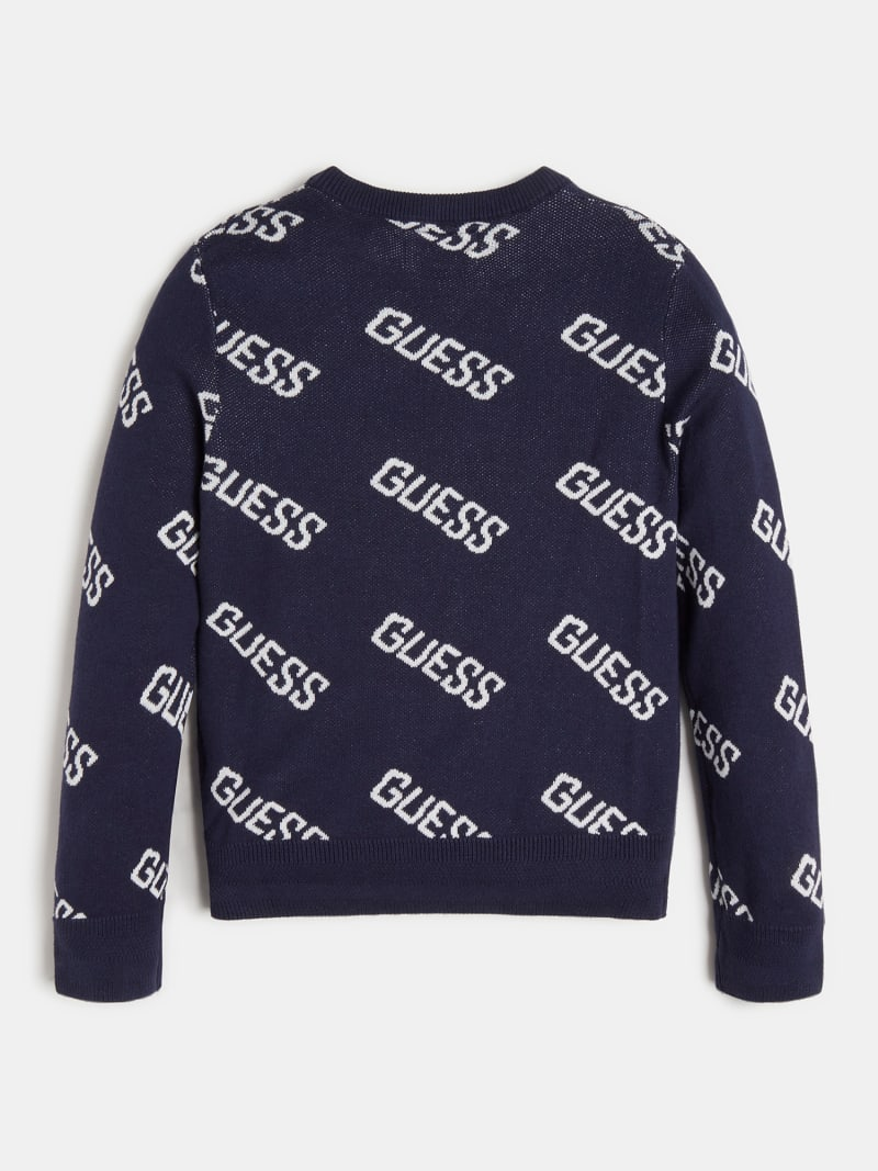 ALL OVER LOGO JACQUARD SWEATER image number 1