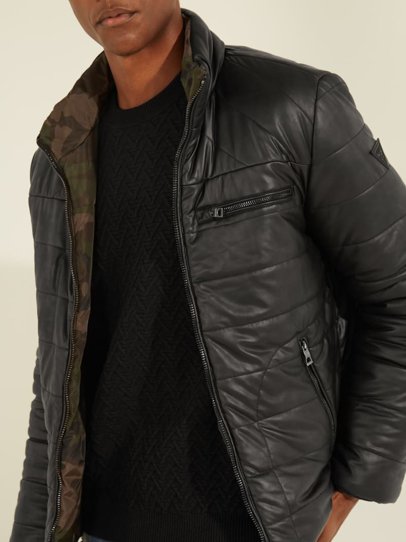 PADDED FAUX LEATHER JACKET image number 3