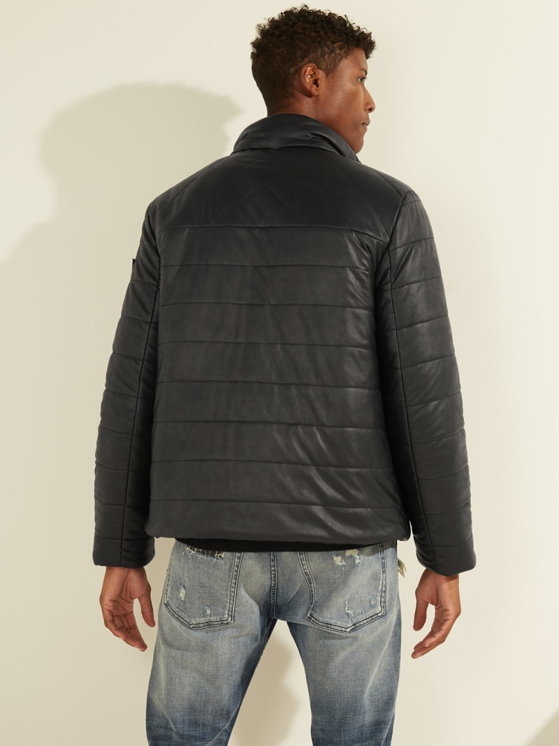 PADDED FAUX LEATHER JACKET image number 4