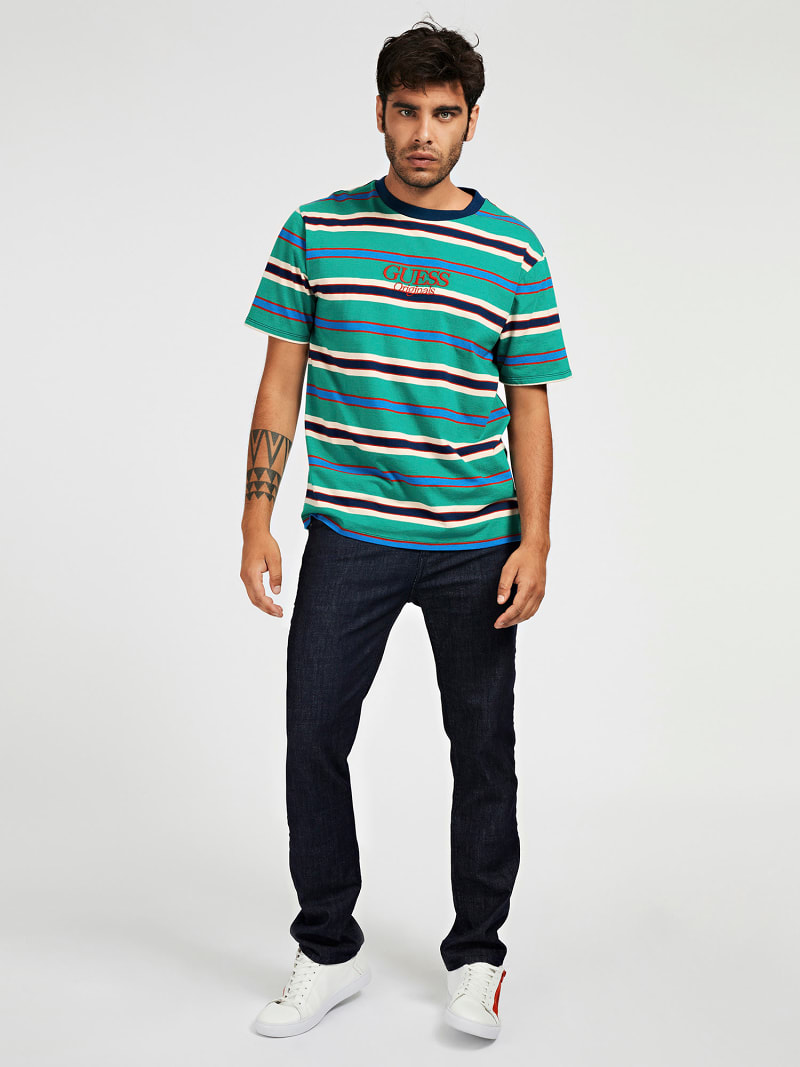 STRIPE PATTERN T-SHIRT image number 1