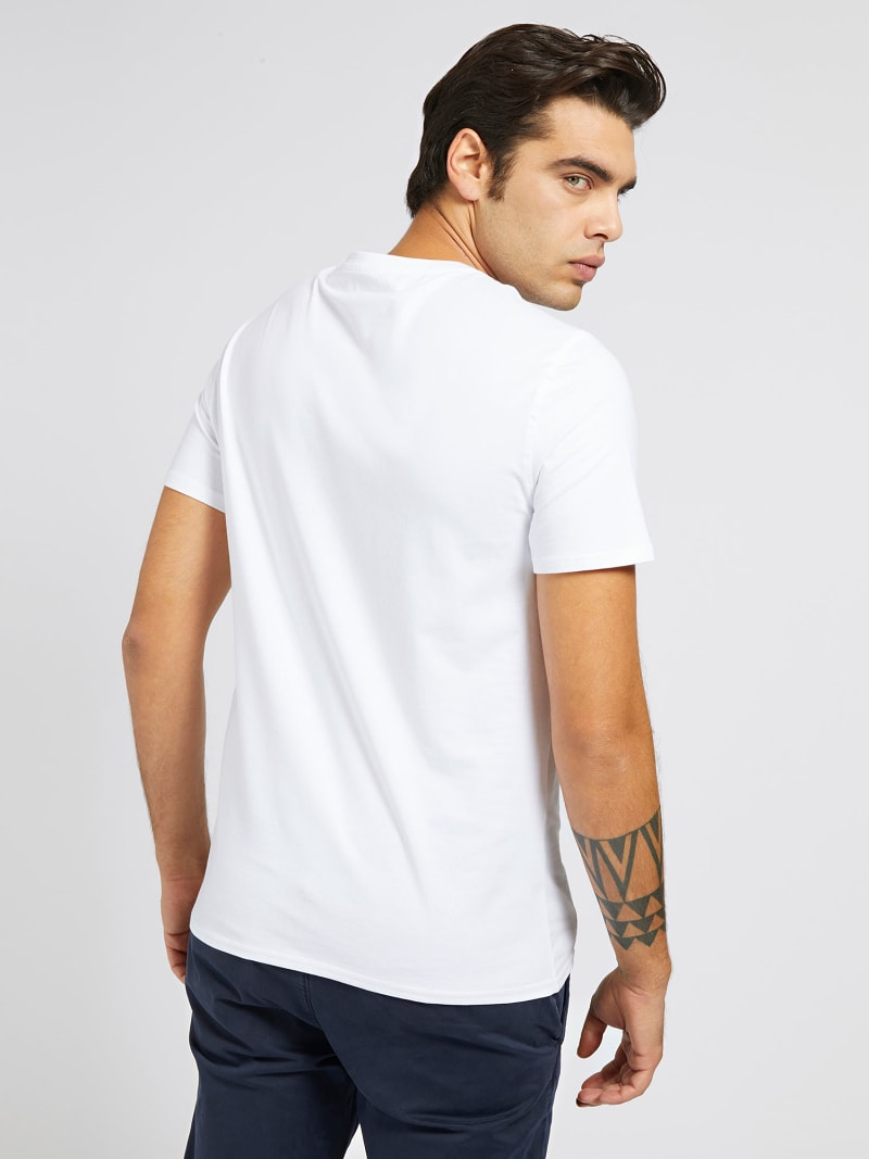 T-SHIRT LOGO FRONTAL COTON STRETCH image number 2