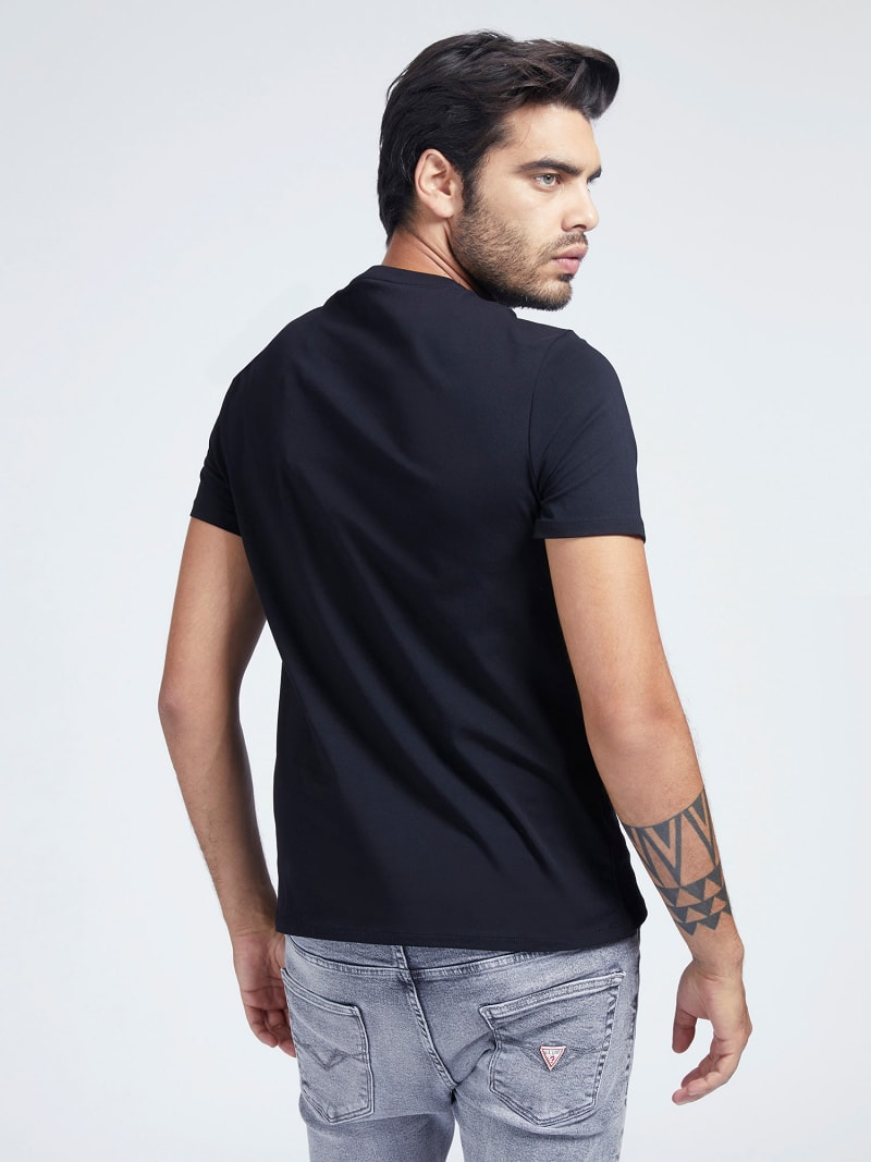 T-SHIRT COTON STRETCH LOGO image number 2