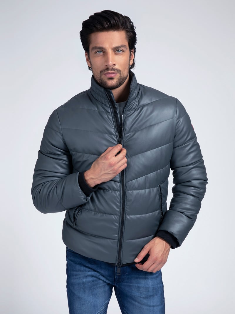 FAUX LEATHER PUFFER image number 0