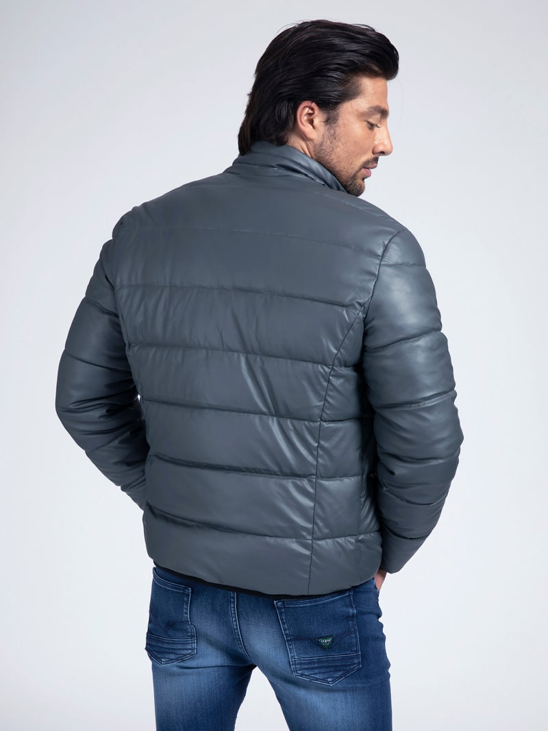 FAUX LEATHER PUFFER image number 2