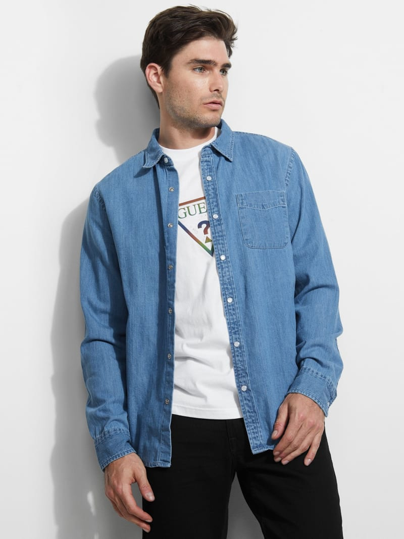DENIM POCKET FRONT SHIRT image number 0