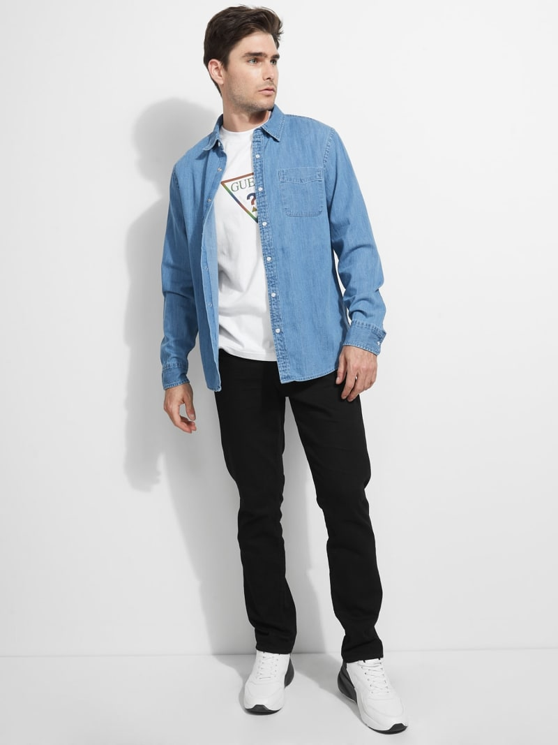 DENIM POCKET FRONT SHIRT image number 1
