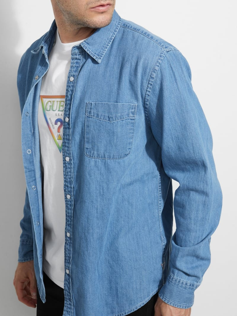 DENIM POCKET FRONT SHIRT image number 2