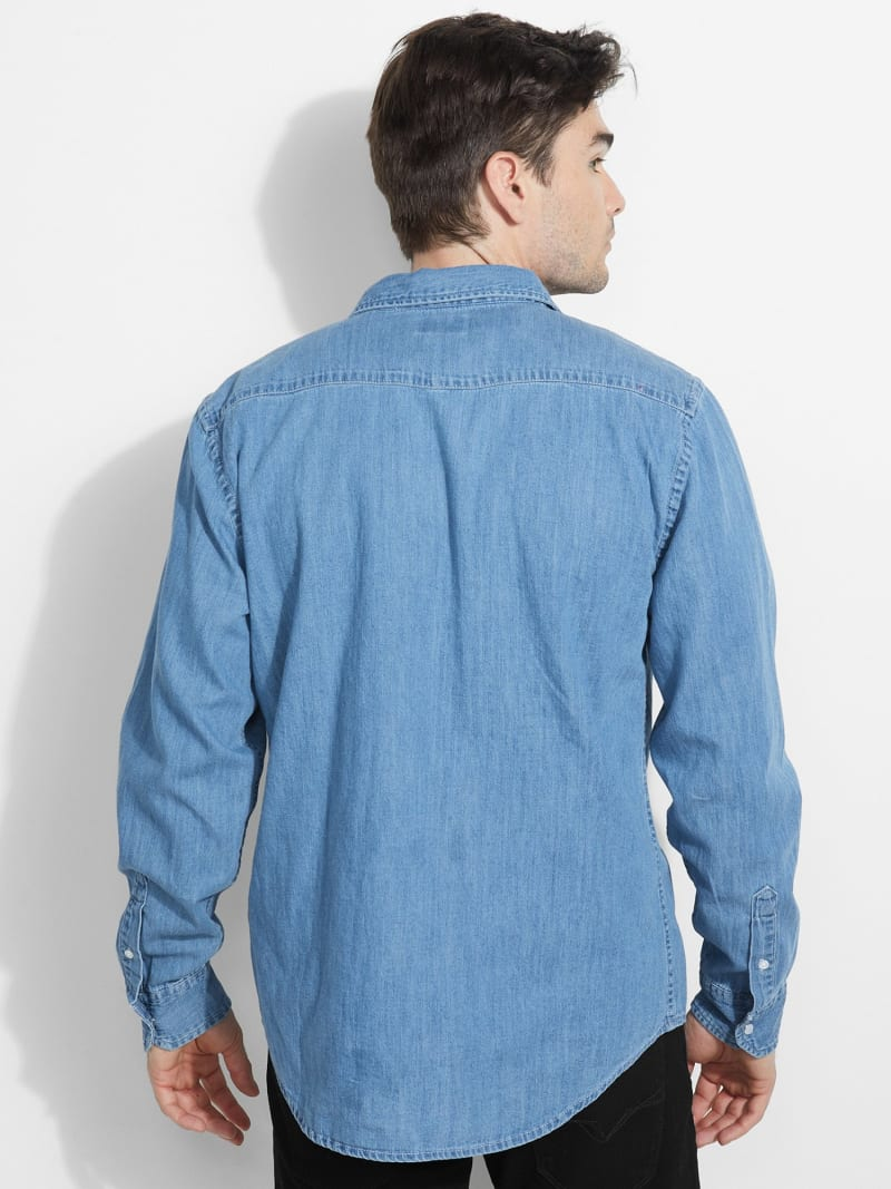 DENIM POCKET FRONT SHIRT image number 3