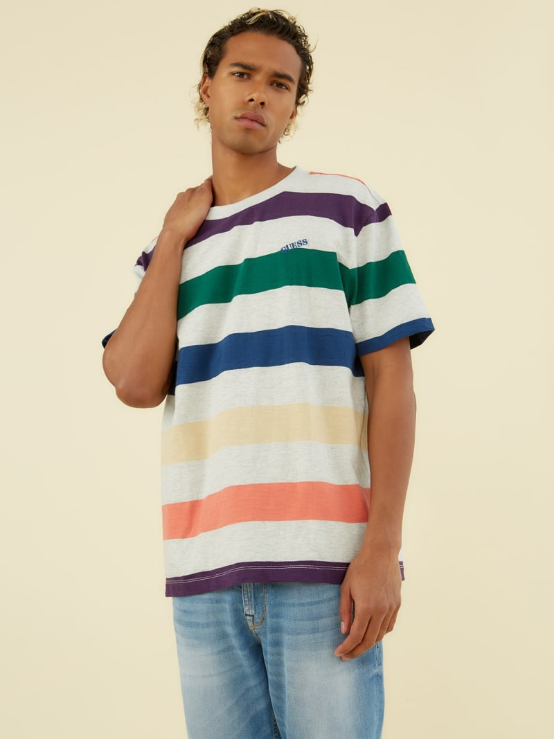 STRIPE MOTIF T-SHIRT image number 0