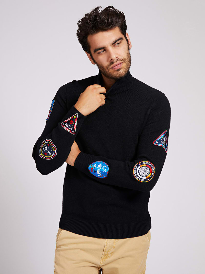 HIGH-NECK SWEATER PATCHES image number 0