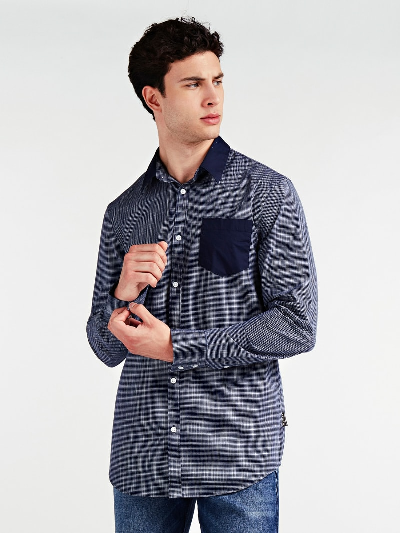 CONTRAST FABRIC SHIRT image number 0