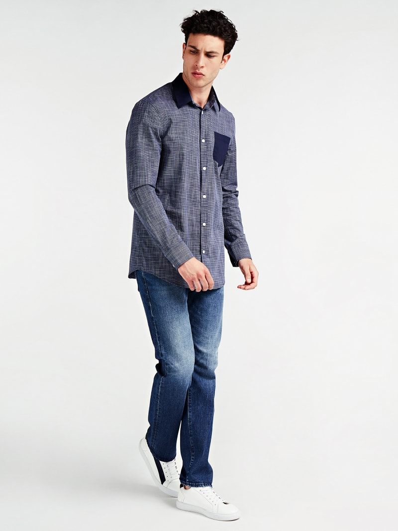 CONTRAST FABRIC SHIRT image number 1
