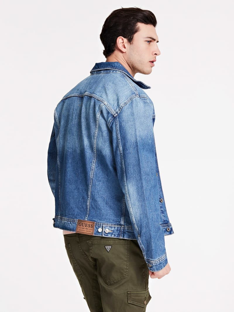 SLIM FIT DENIM JACKET image number 2