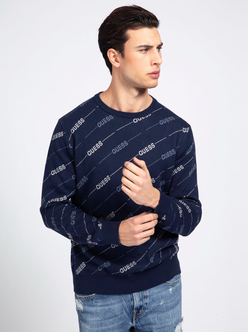 JACQUARD-PULLOVER ALLOVER-LOGO  image number 0