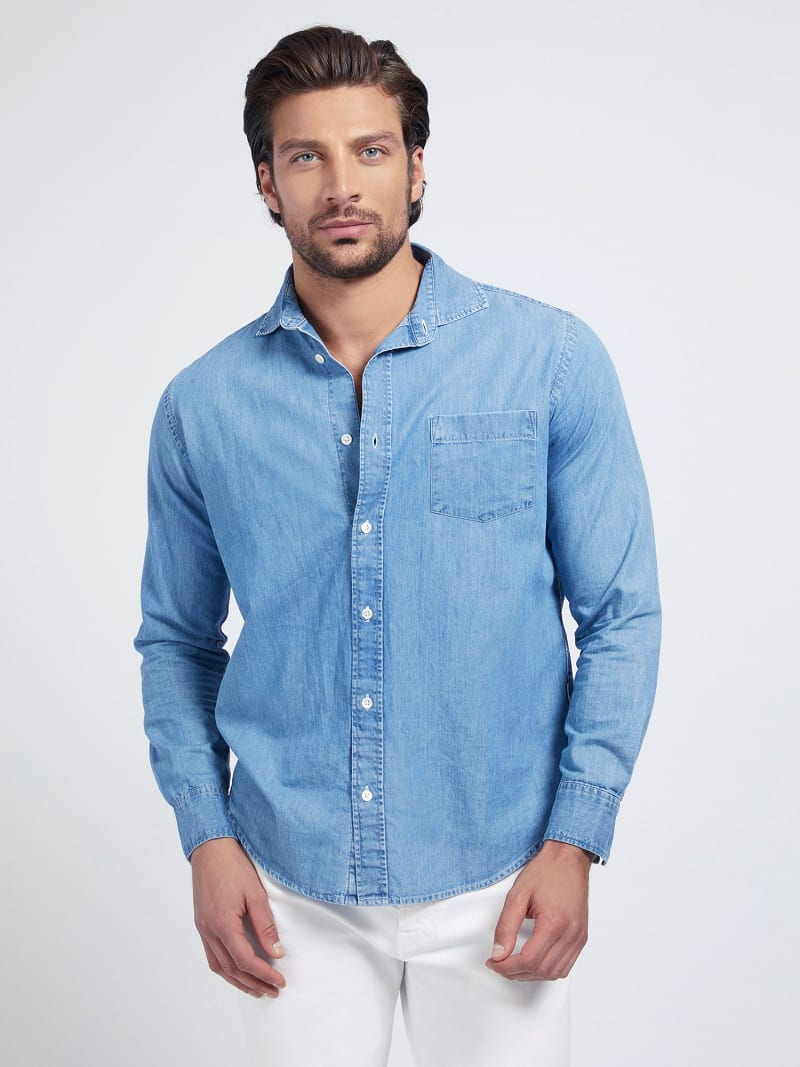 REGULAR FIT DENIM SHIRT image number 0