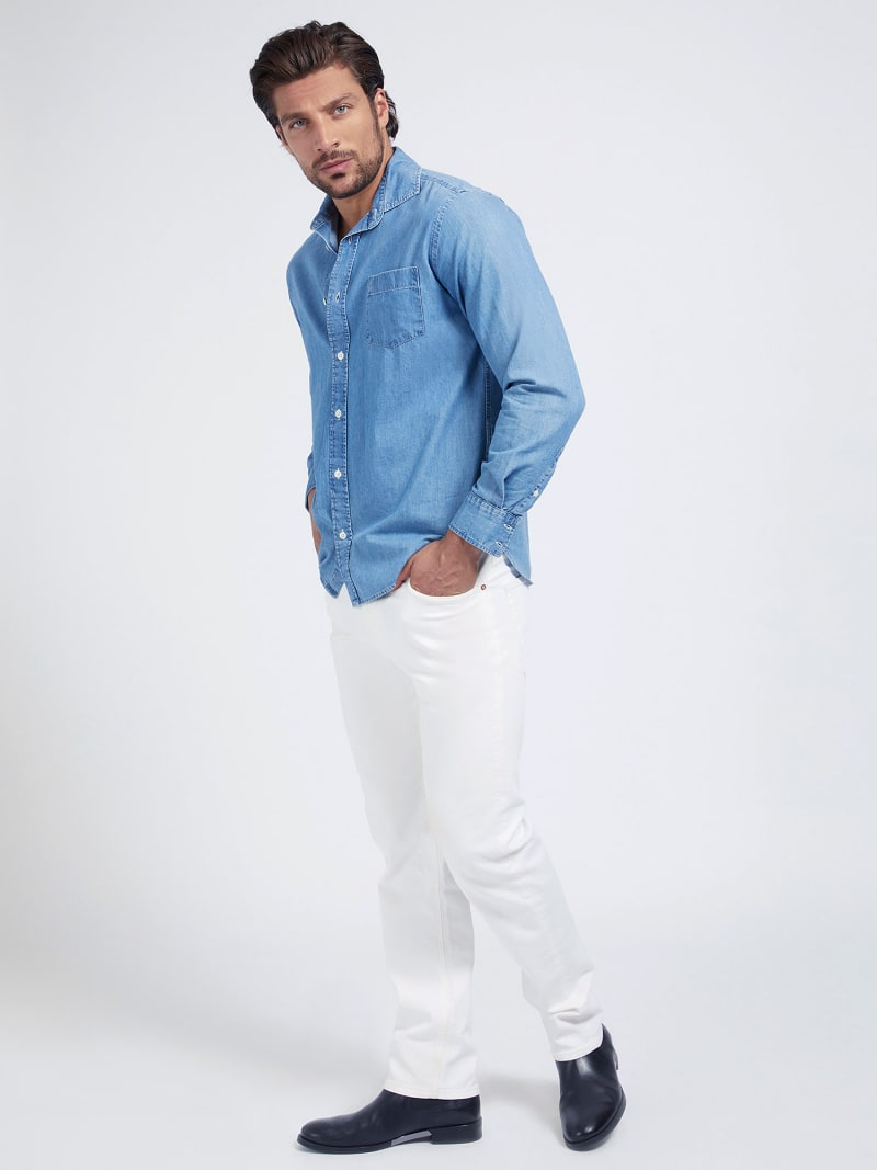 REGULAR FIT DENIM SHIRT image number 1