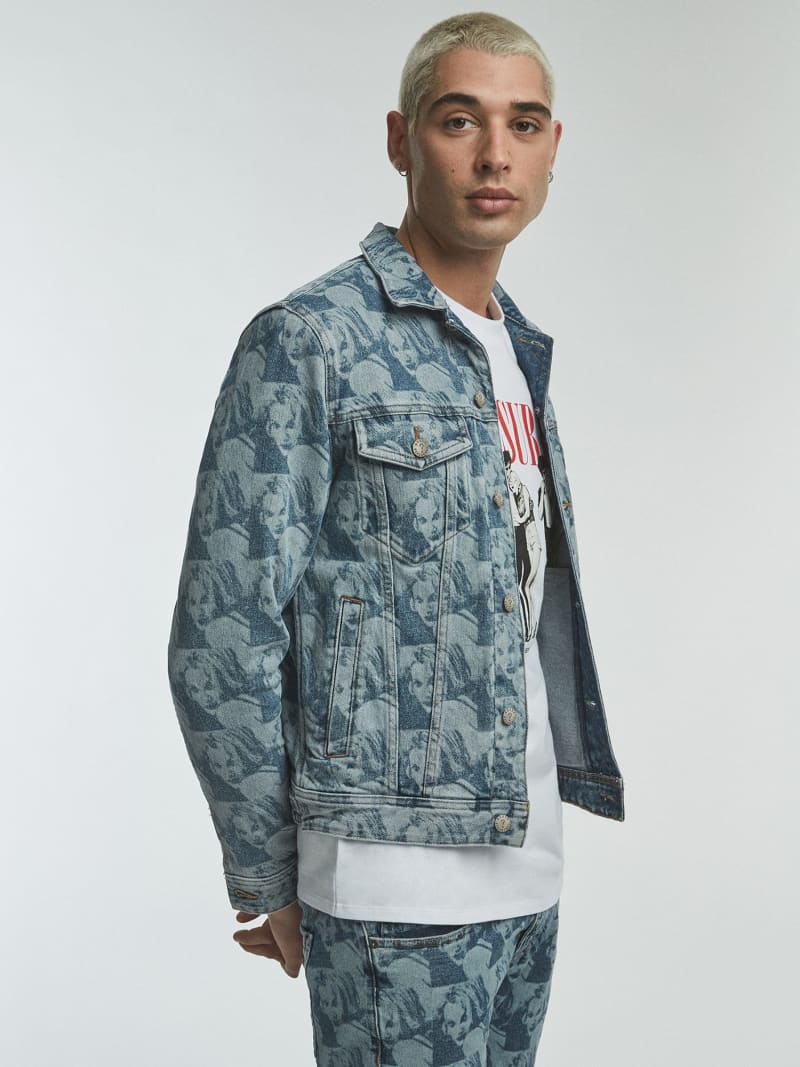 DENIM JACKET PRINT ALL OVER image number 0