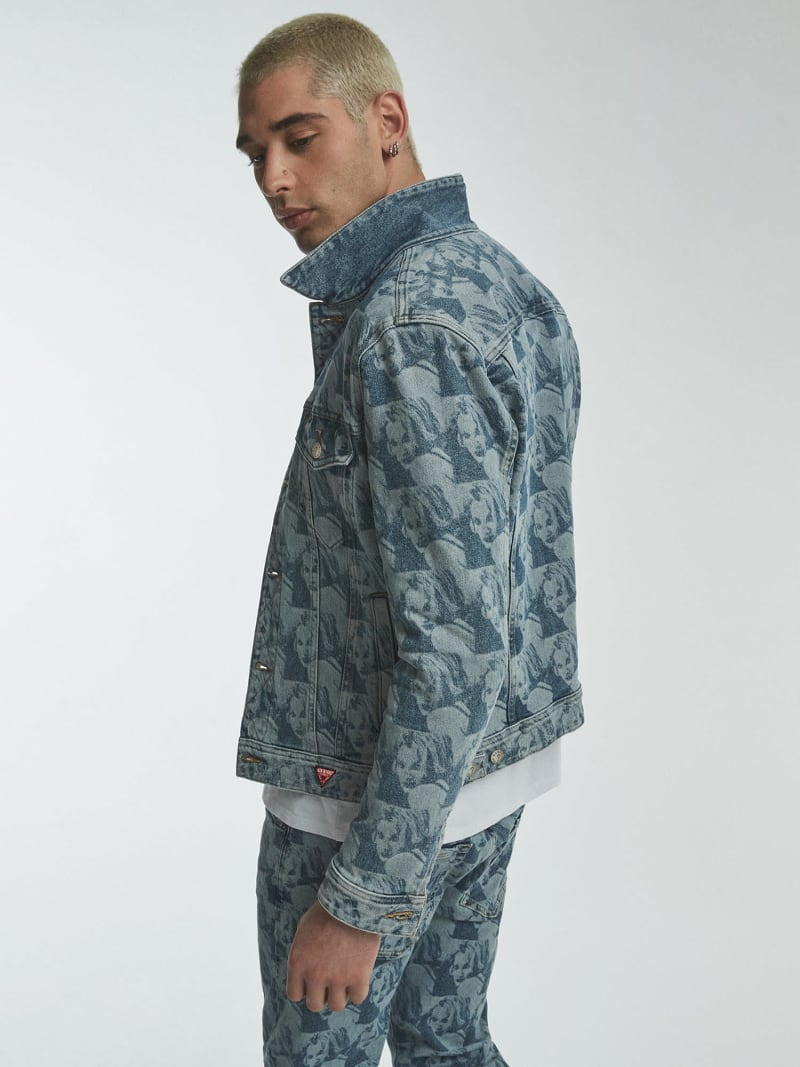 DENIM JACKET PRINT ALL OVER image number 1