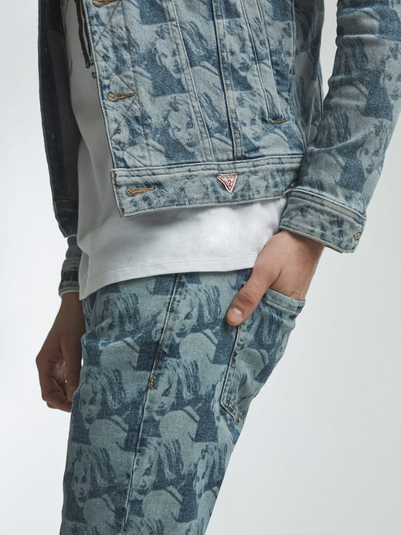 DENIM JACKET PRINT ALL OVER image number 2