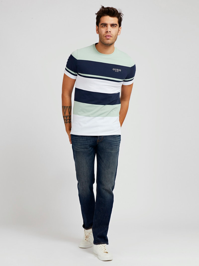STRIPED FRONT LOGO T-SHIRT image number 1