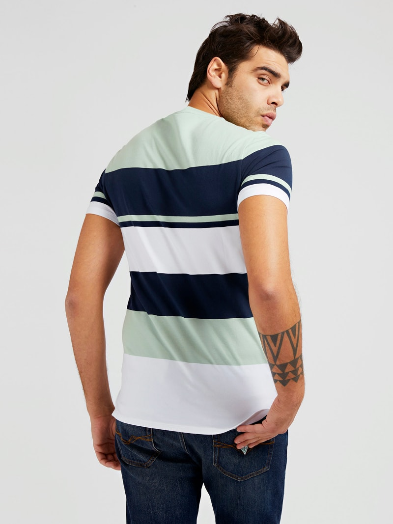 STRIPED FRONT LOGO T-SHIRT image number 2