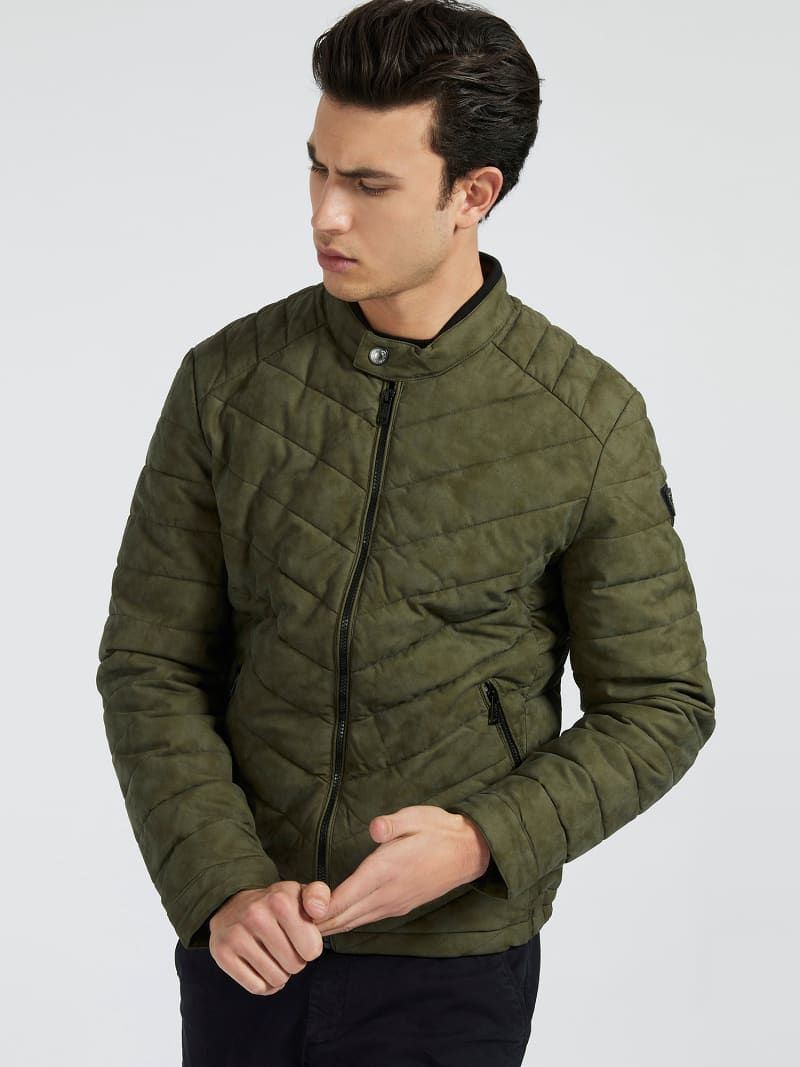 FAUX LEATHER PADDED JACKET image number 0