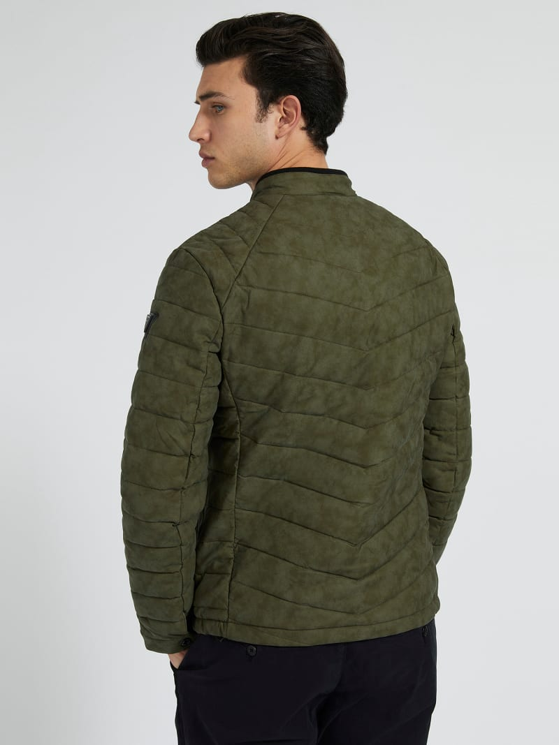 FAUX LEATHER PADDED JACKET image number 2