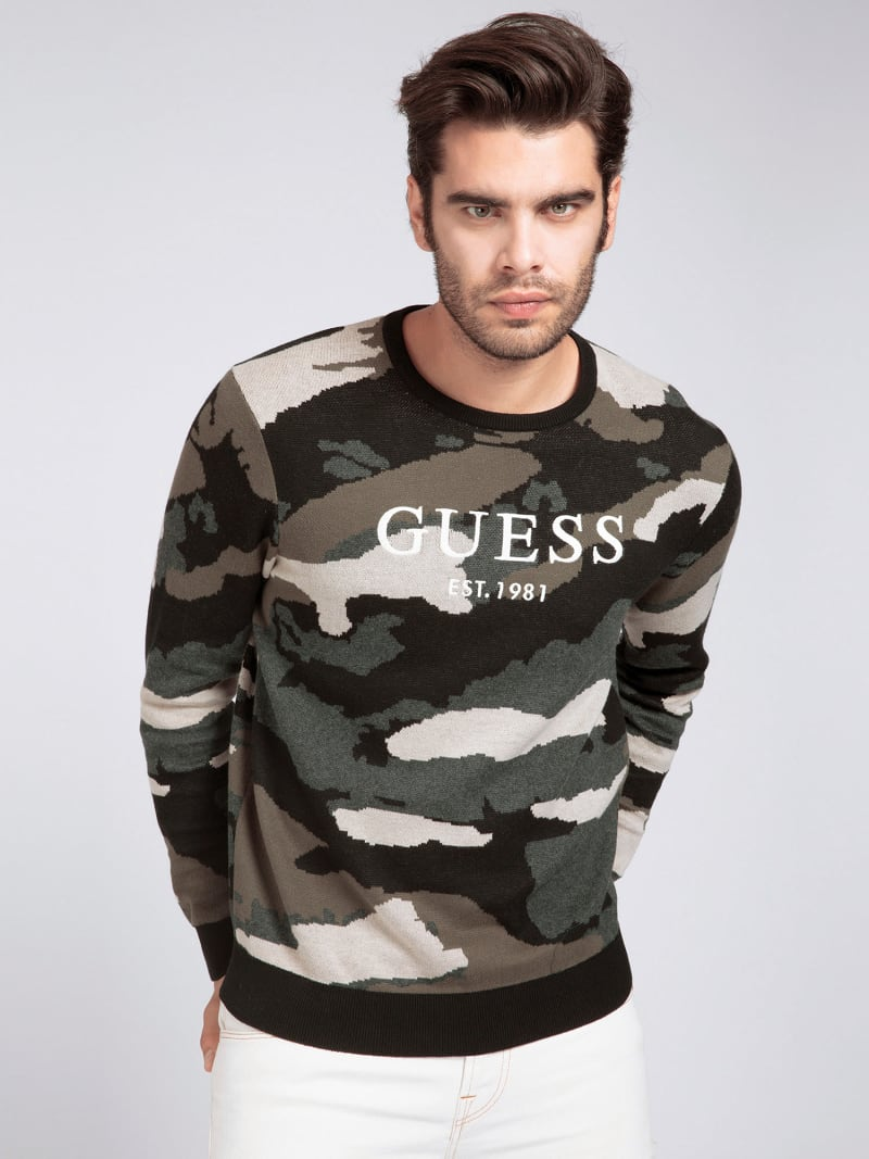COTTON CAMOUFLAGE SWEATER image number 0