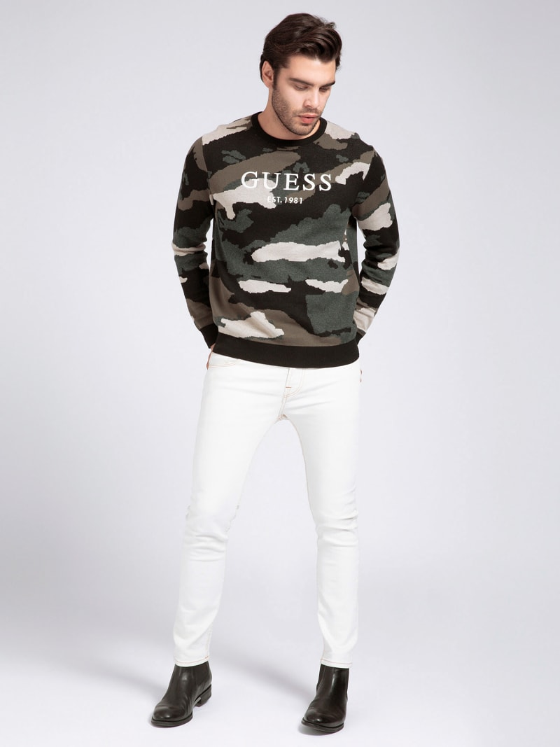 COTTON CAMOUFLAGE SWEATER image number 1