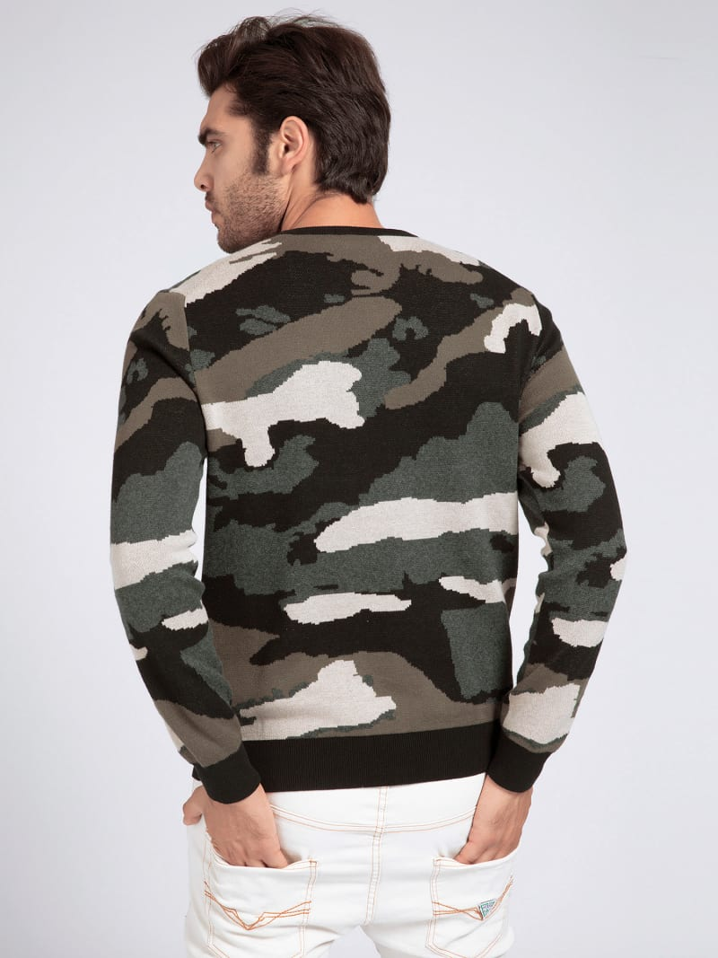 COTTON CAMOUFLAGE SWEATER image number 2